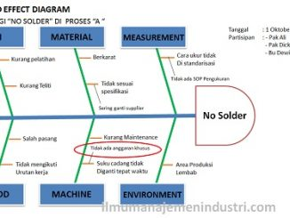 Pengertian Cause Effect Diagram atau Fishbone Diagram dan cara membuat Fishbone diagram
