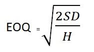 Rumus Economic Order Quantity (EOQ)