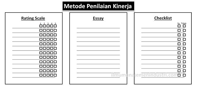 Metode Penilaian Kinerja (Performance Appraisal Methods)