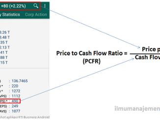 Pengertian Price to Cash Flow Ratio (PFCR) atau Harga Terhadap Arus Kas